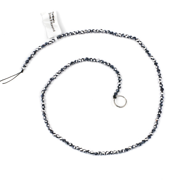 Terahertz 3mm Faceted Round Beads - 15 inch strand