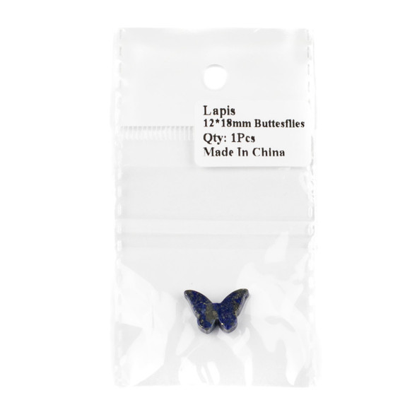 Lapis 12x18mm Top Drilled on Wing Tip Butterfly Pendant - 1 per bag