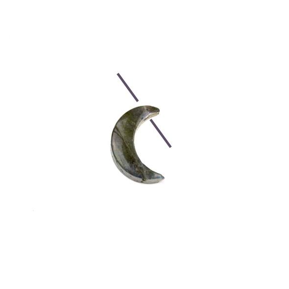 Blue Labradorite 14mm Top Drilled Crescent Moon Pendant - 1 per bag