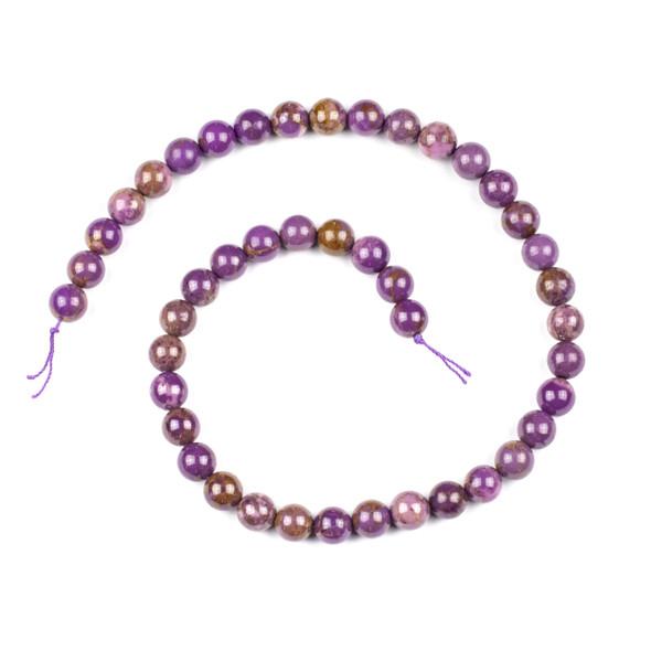 Lepidolite 9mm Round Beads - 15 inch strand