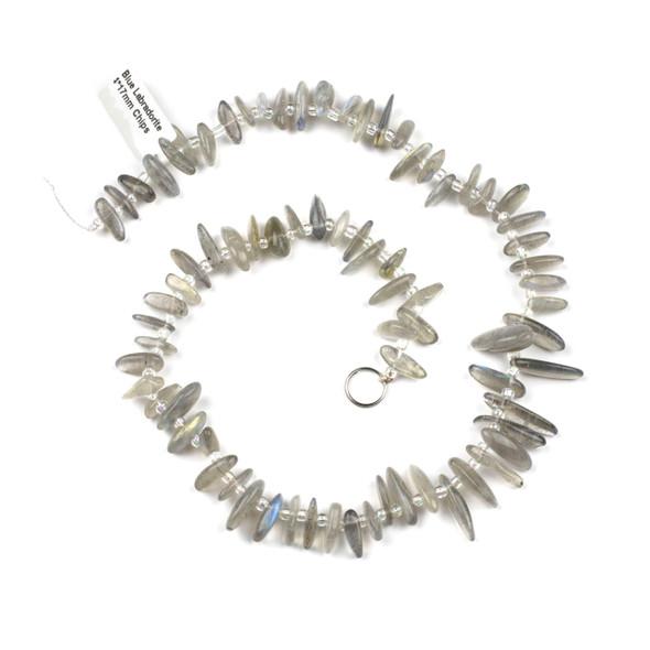 Labradorite 14x17mm Chip Beads - 15 inch strand