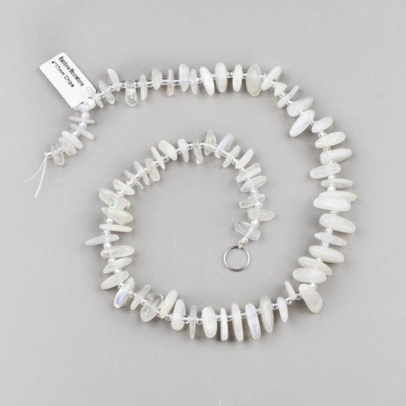 Rainbow Moonstone 14x17mm Chip Beads - 15 inch strand