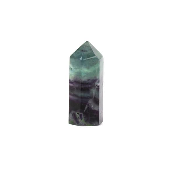 "Rainbow Fluorite Small-Medium Crystal Point Tower - 1 piece, approx. .6x1.5"""