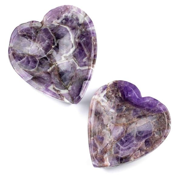 "Amethyst Heart Bowl - 1 piece, approx. 3.5x4"""