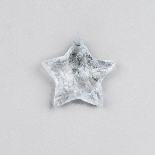 Clear Quartz Rough Cut Star Specimen - 1 piece, approx. 25x35mm