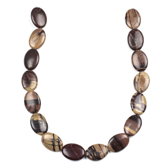 Purple Cherry Creek Jasper 18x24mm Oval Beads - 16 inch strand