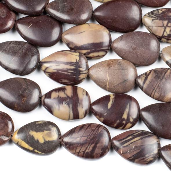 Purple Cherry Creek Jasper 18x24mm Teardrop Beads - 16 inch strand