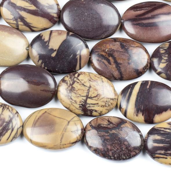 Purple Cherry Creek Jasper 22x30mm Oval Beads - 16 inch strand