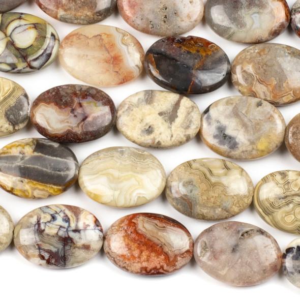 Laguna Lace Agate 18x24mm Teardrop Beads - 16 inch strand