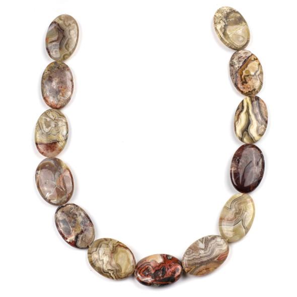Laguna Lace Agate 22x30mm Teardrop Beads - 16 inch strand