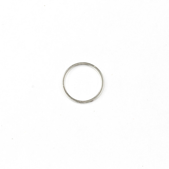 Coated Silver Plated Brass 16mm Hoop Link Components - 6 per bag - CTBYH-017sc