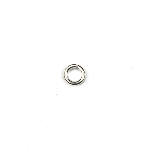 Silver Plated Brass 4mm Open Jump Rings - 21 gauge - approx. 200 per bag - CTB-21gopenrg.8x4s