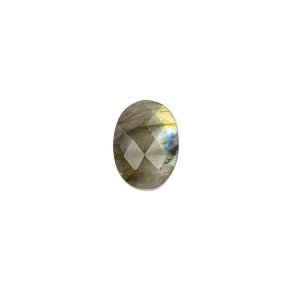 Labradorite 13x18mm Faceted Oval Cabochon - 1 per bag