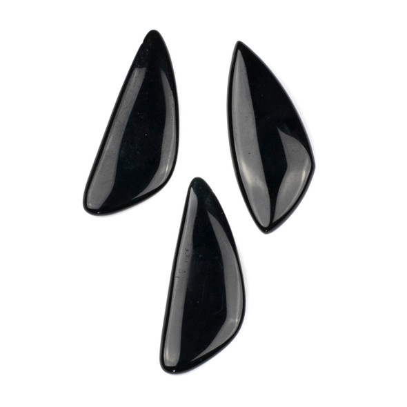 Onyx 20x48mm Top Drilled Triangle Free Form Pendant - 1 per bag