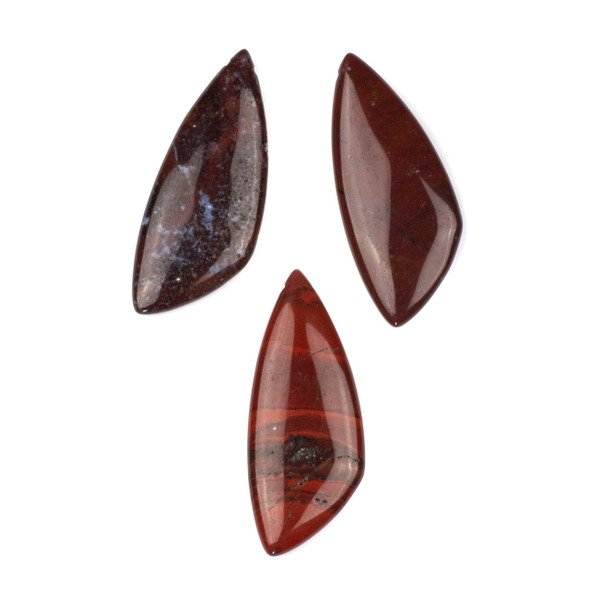 Rainbow Jasper 20x48mm Top Drilled Triangle Free Form Pendant - 1 per bag