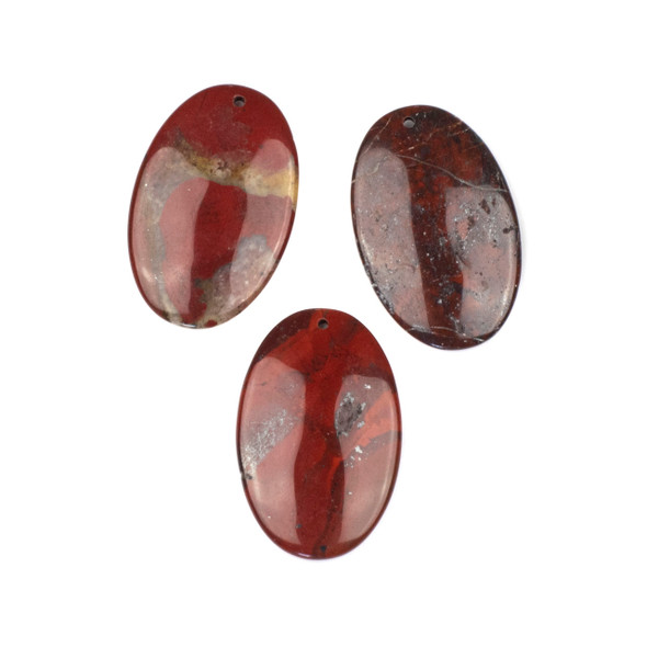 Rainbow Jasper 25x40mm Top Front to Back Drilled Oval Pendant - 1 per bag