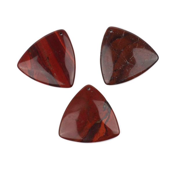 Rainbow Jasper 35mm Top Front to Back Drilled Puff Triangle Pendant - 1 per bag