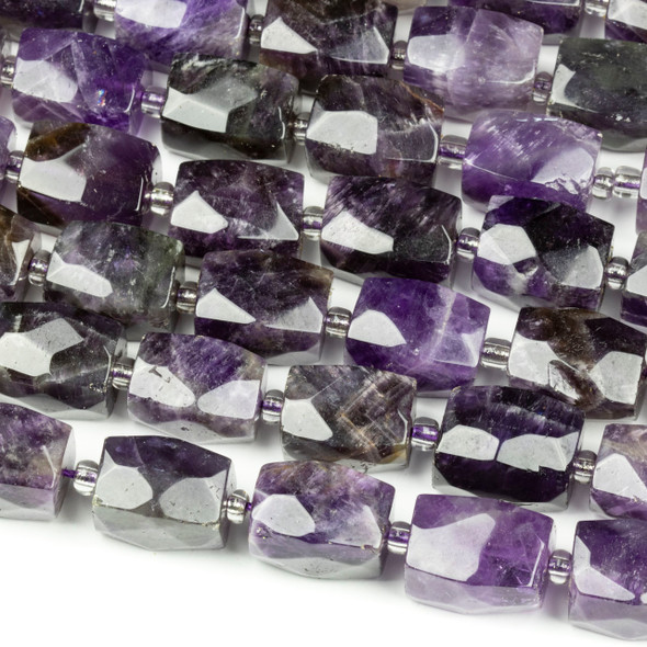 Amethyst 12x16mm Faceted Nugget Beads - 16 inch strand