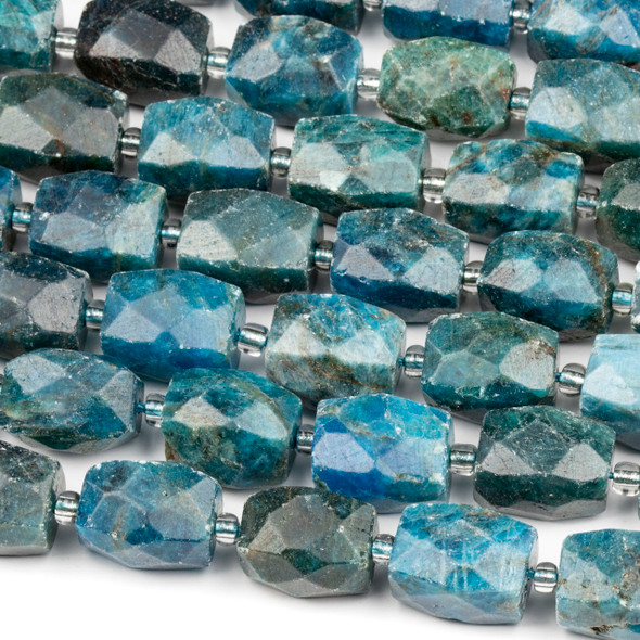 Apatite 12x16mm Faceted Nugget Beads - 16 inch strand