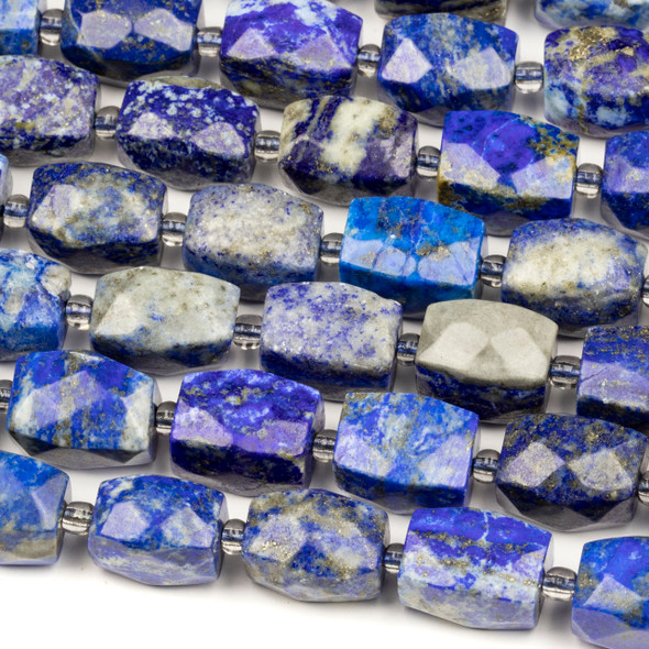 Lapis 12x16mm Faceted Nugget Beads - 16 inch strand
