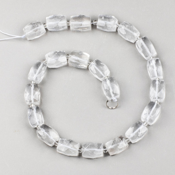 Quartz 12x16mm Faceted Nugget Beads - 16 inch strand
