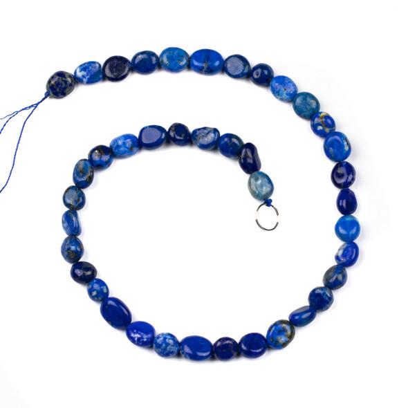 Lapis 8x12mm Pebble Beads - 16 inch strand