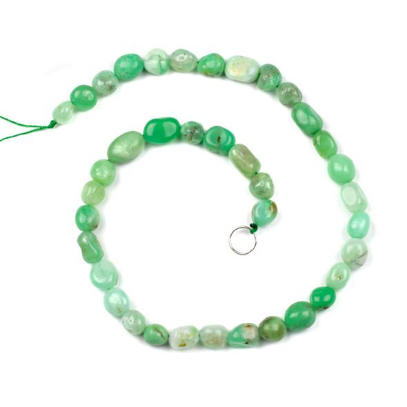 Chrysoprase 10x14mm Pebble Beads - 16 inch strand