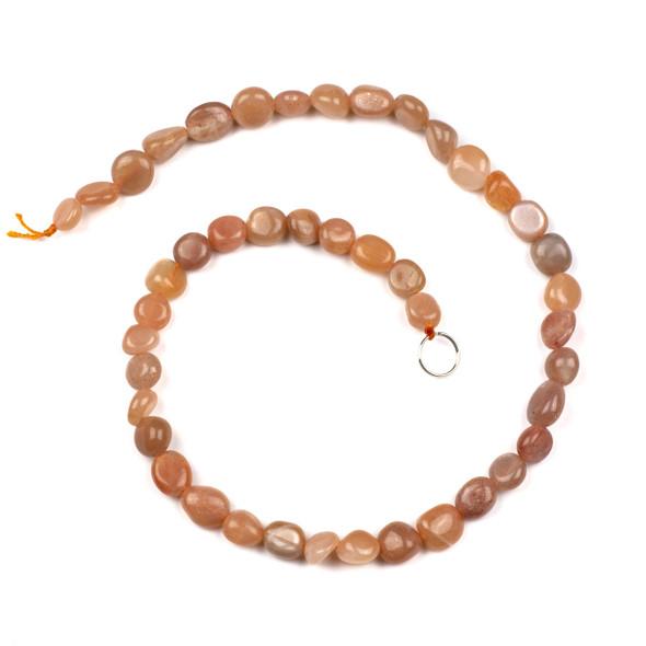 Sunstone 10x12mm Pebble Beads - 16 inch strand