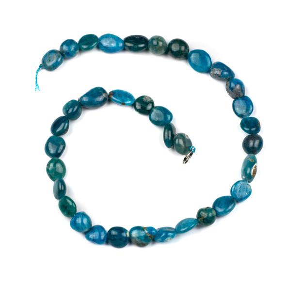 Apatite 10x12mm Pebble Beads - 16 inch strand