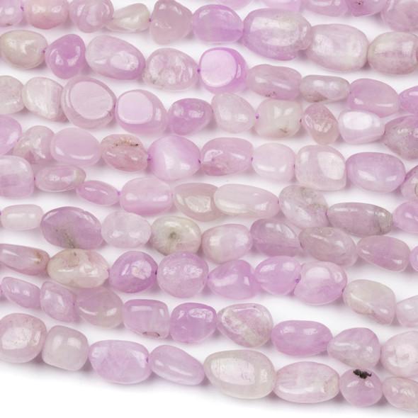 Kunzite 10x12mm Pebble Beads - 16 inch strand
