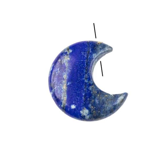 Lapis 27x30mm Top Drilled Crescent Moon Pendant - 1 per bag