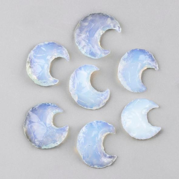 Opaline Rough Cut Moon Specimen - 1 piece, approx. 22x32mm