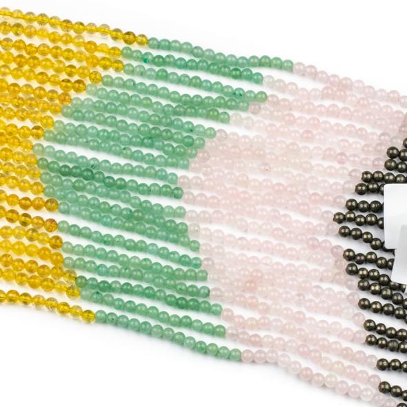 Abundance & Success Gemstone Artisan Strand - #3, 4mm Round Beads, 8 inch strand