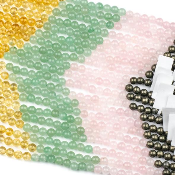 Abundance & Success Gemstone Artisan Strand - #3, 6mm Round Beads, 8 inch strand