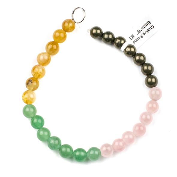Abundance & Success Gemstone Artisan Strand - #3, 8mm Round Beads, 8 inch strand