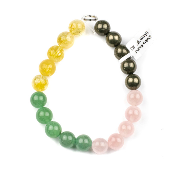 Abundance & Success Gemstone Artisan Strand - #3, 10mm Round Beads, 8 inch strand