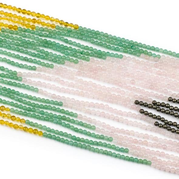 Abundance & Success Gemstone Artisan Strand - #3, 4mm Round Beads, 15 inch strand