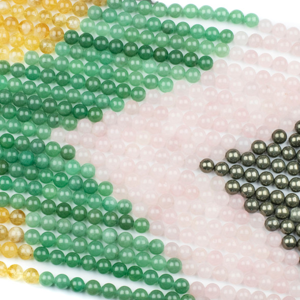 Abundance & Success Gemstone Artisan Strand - #3, 10mm Round Beads, 15 inch strand