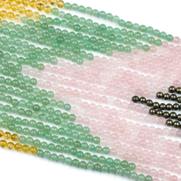 Abundance & Success Gemstone Artisan Strand - #3, 6mm Round Beads, 15 inch strand