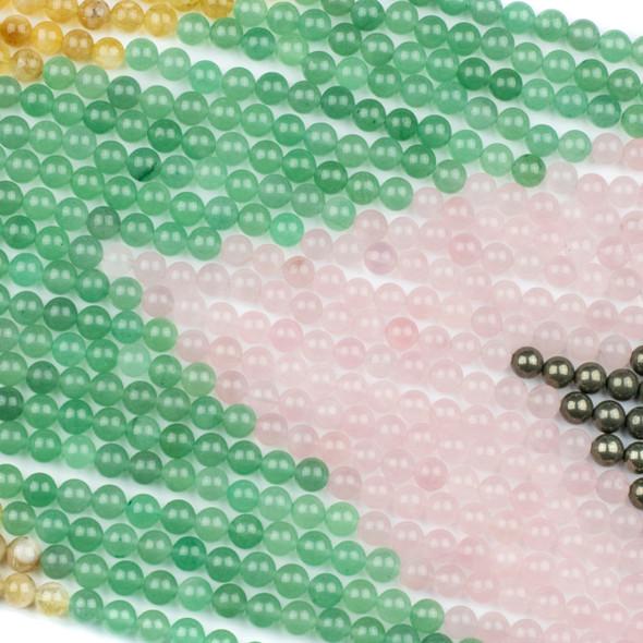 Abundance & Success Gemstone Artisan Strand - #3, 8mm Round Beads, 15 inch strand