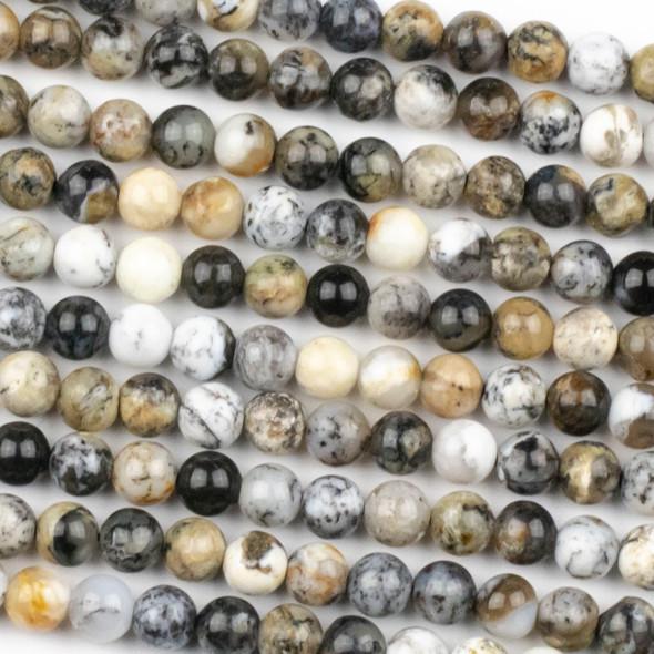 Black Opal 6mm Round Beads - 15 inch strand
