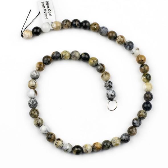 Black Opal 8mm Round Beads - 15 inch strand