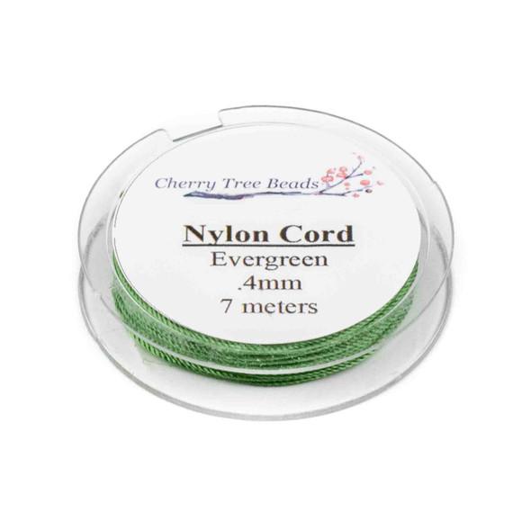 Nylon Cord - Evergreen, .4mm, 7 meter spool