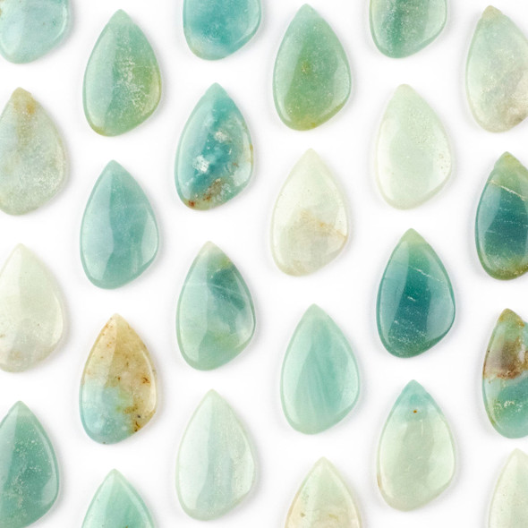 Amazonite 18x30mm Top Side Drilled Free Form Pendant - 1 per bag