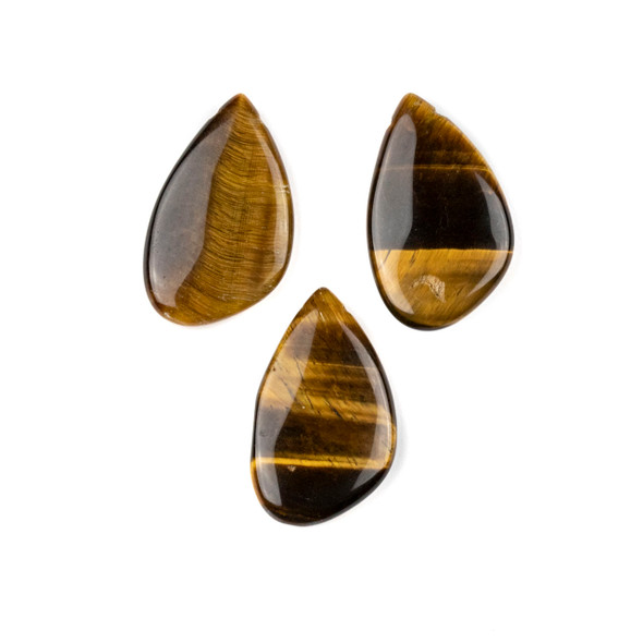Yellow Tigereye 18x30mm Top Side Drilled Free Form Pendant - 1 per bag