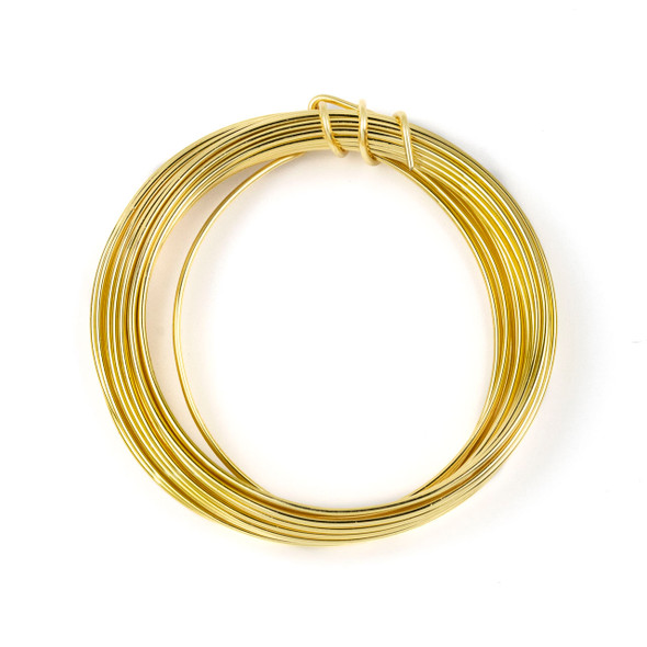 16 Gauge Coated Non-Tarnish Gold Plated Copper Wire in a 15-Foot Coil