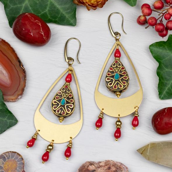 Tibetan Teardrop Earring Kit - #013