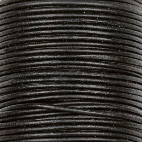 1mm Antique Black Leather Cord - #402, 25 meter spool