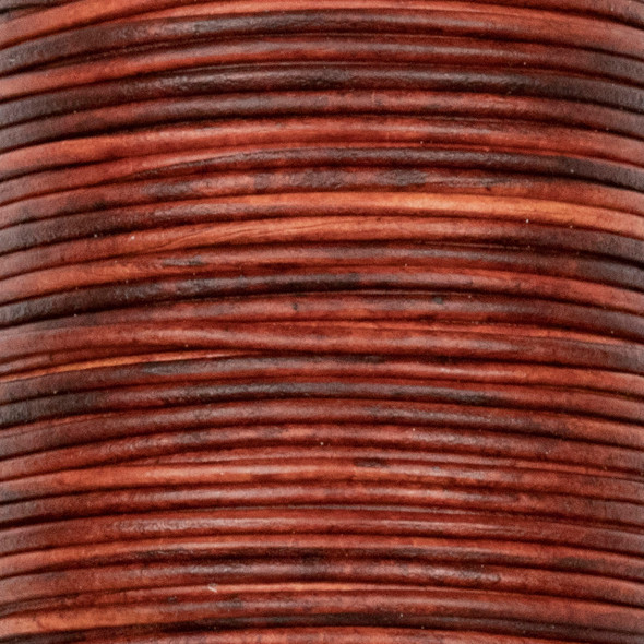 1mm Antique Cherry Wood Red Leather Cord - #413, 25 meter spool