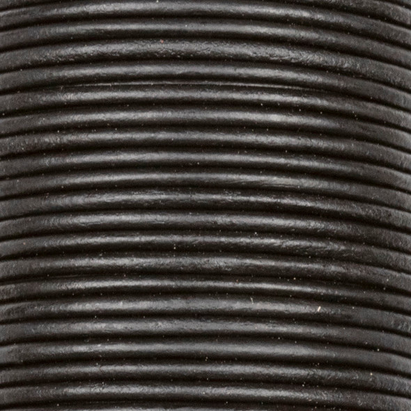 1.5mm Antique Black Leather Cord - #402, 25 meter spool